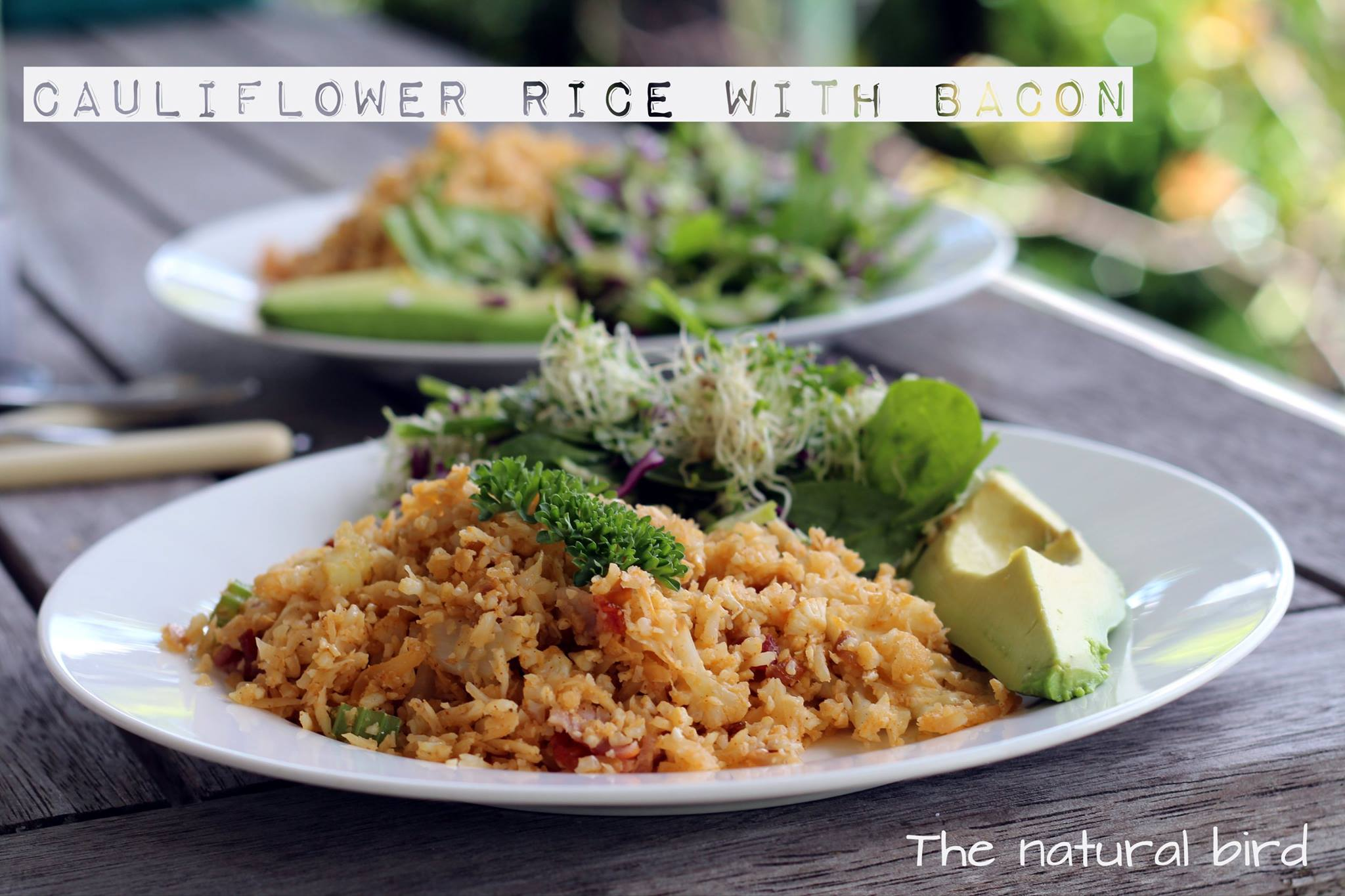 Cauliflower rice is the bomb!