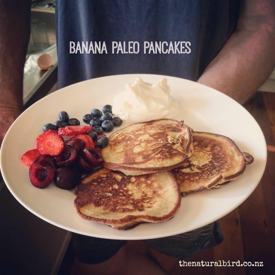 Pretty dam good banana pancakes