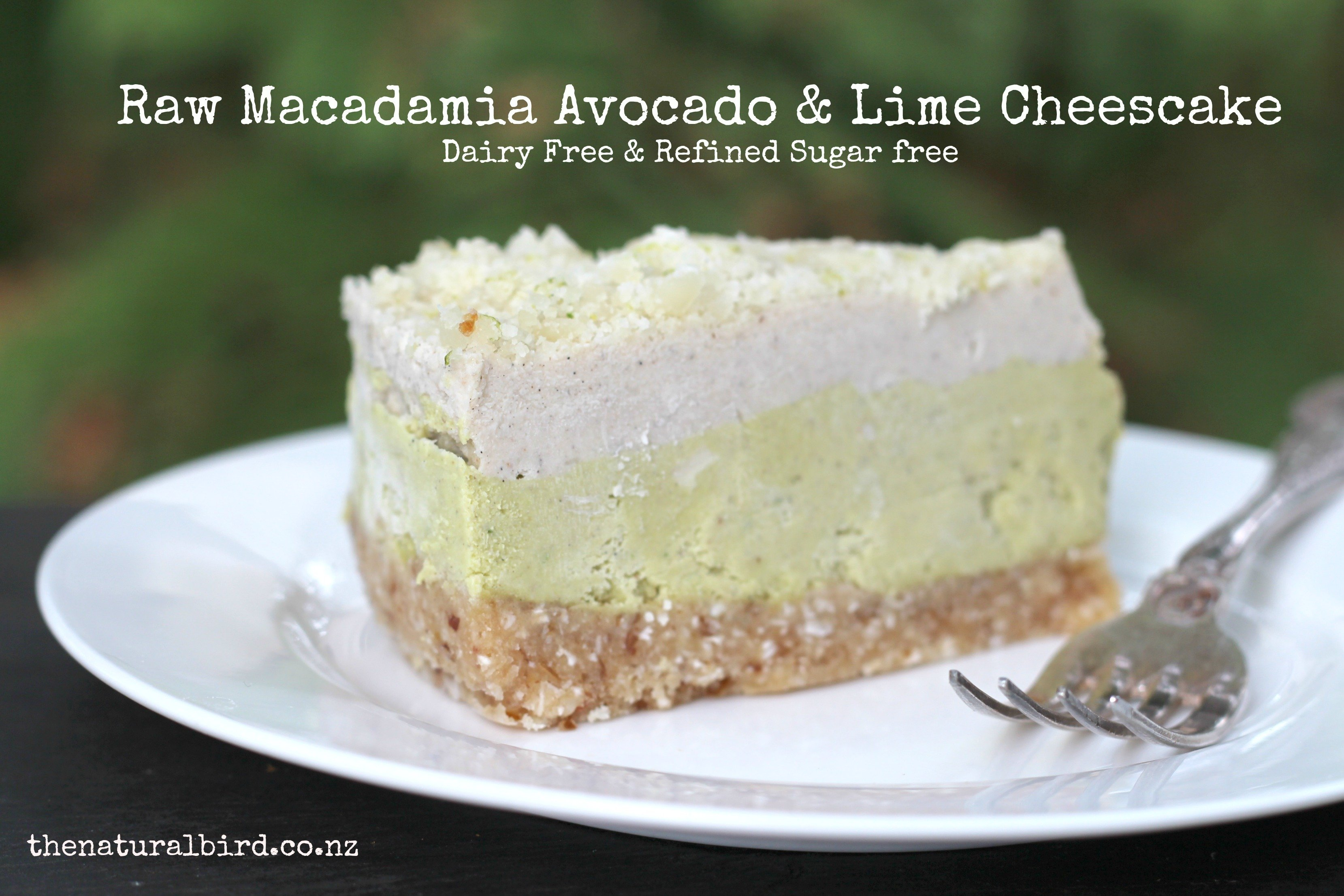 Raw Macadamia, Avocado & Lime Cheesecake