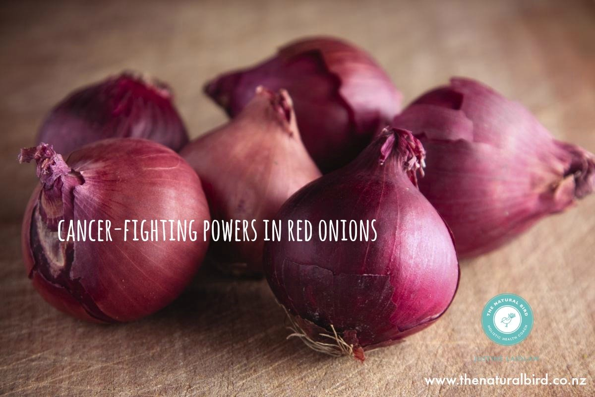 The cancer fighting powers of RED onions.